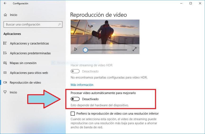 mejorar calidad de videos en Windows 10