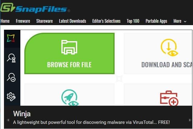 Descargar aplicaciones gratis con SnapFiles