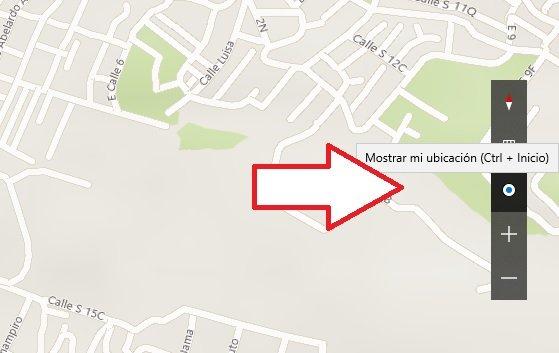activar ubicacion en Microsoft Maps