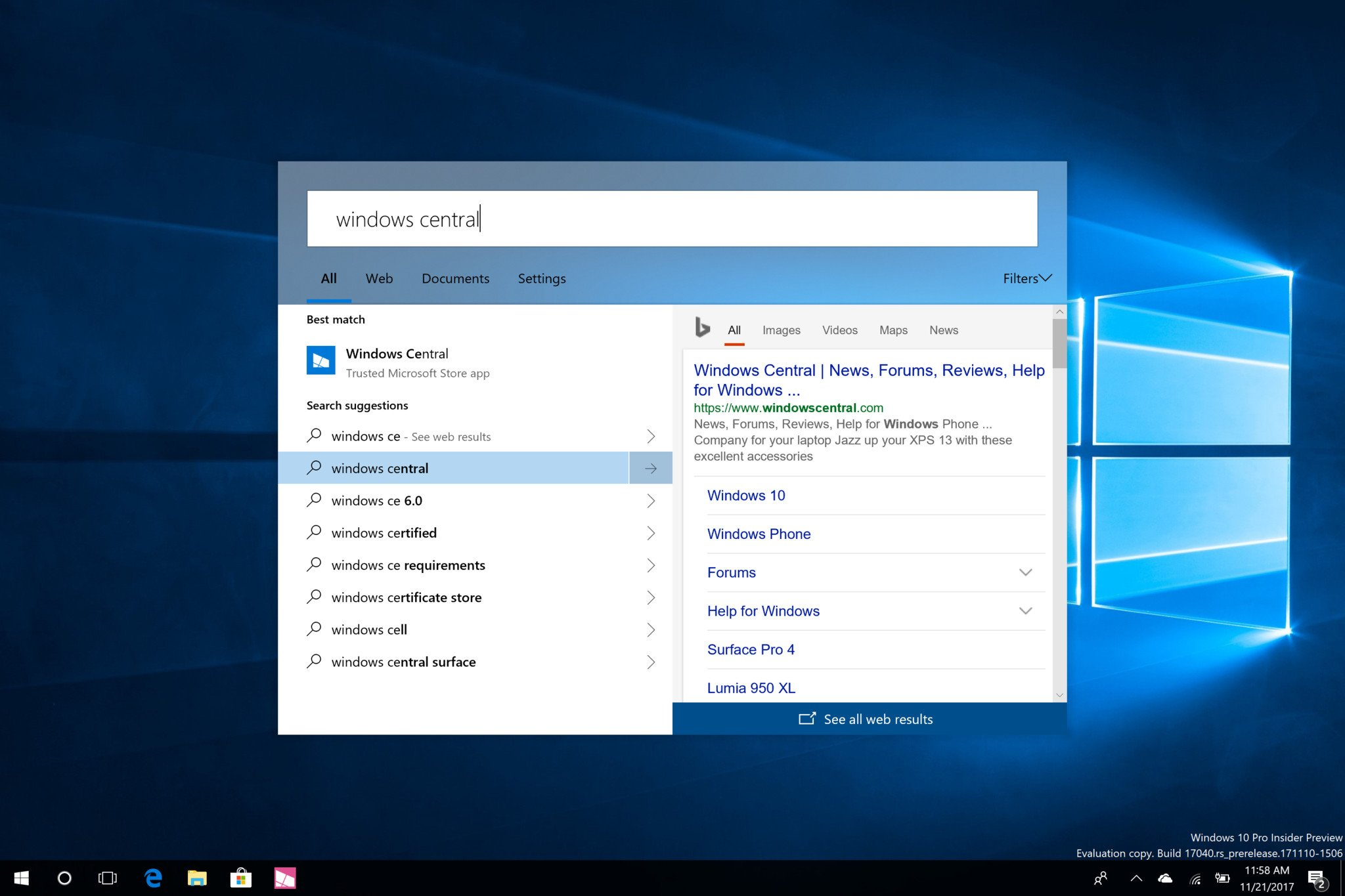 Microsoft Is Working On A New Search UI For Windows 10