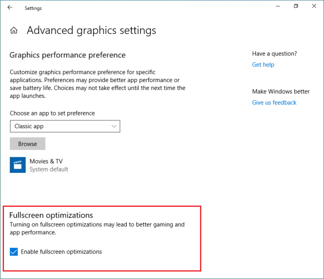 How to Disable Fullscreen Optimizations in Windows 10 - Step