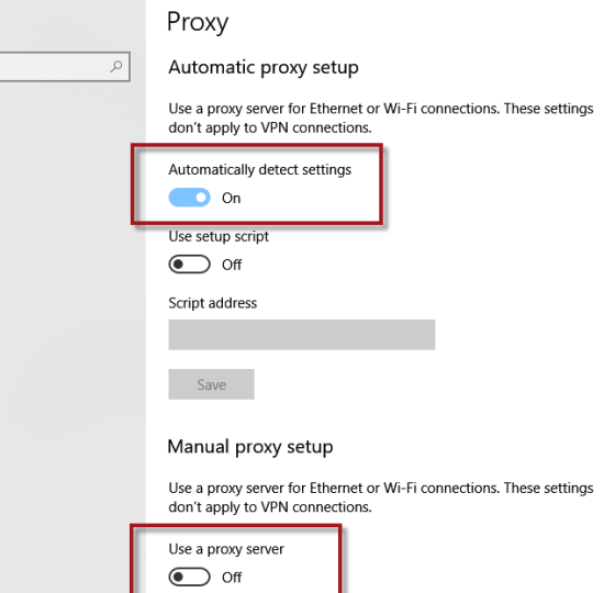 How to Disable Proxy Settings in Windows 10 PC