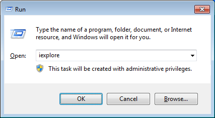 How to Run Command for Internet Explorer