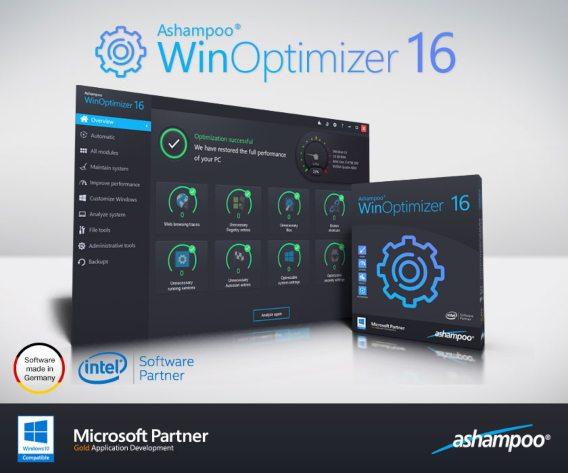 Ashampoo WinOptimizer 16 (2019) License Key Free Download