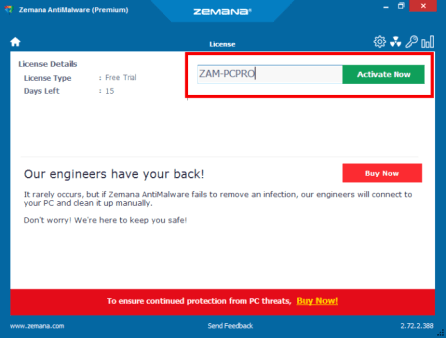 Zemana AntiMalware License Key