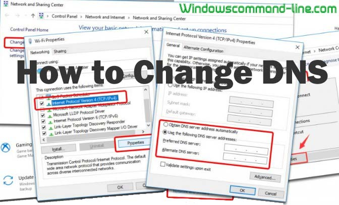 How to Change DNS Server Windows 10