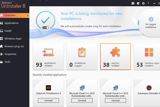 Ashampoo UnInstaller 8 Free License Key Full Version for Windows