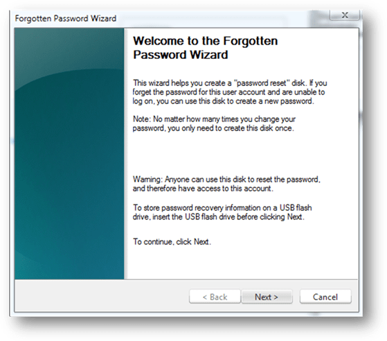How to Create Windows 7 Password Reset Disk