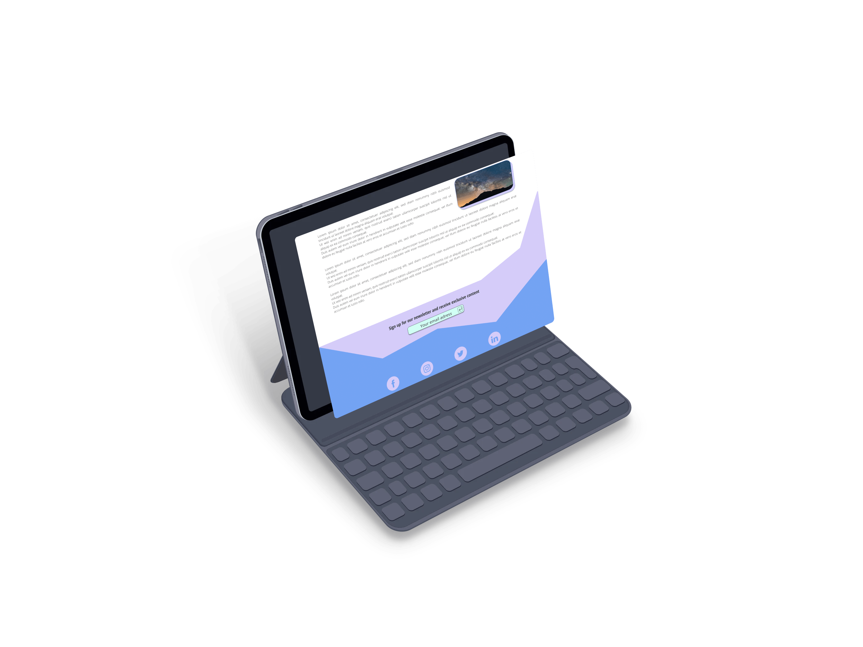 clean-ipad-screen-mockup-with-keyboard