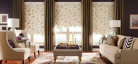 window treatments ideas for living room the rooftop bar i family decor windows dressed up patterned roman shades