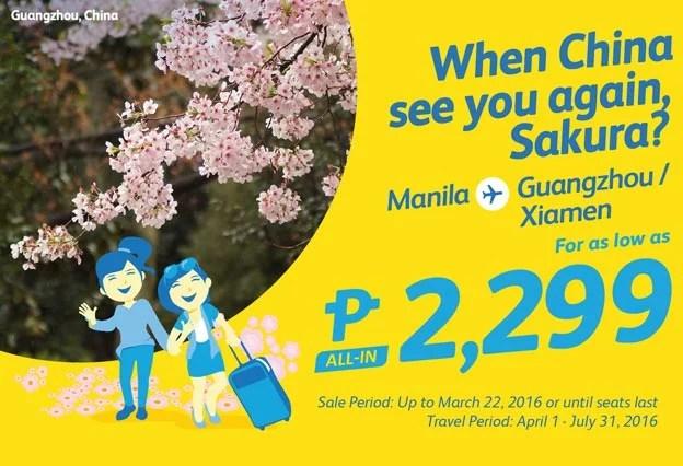 Cebu Pacific Promo March 21 to 25