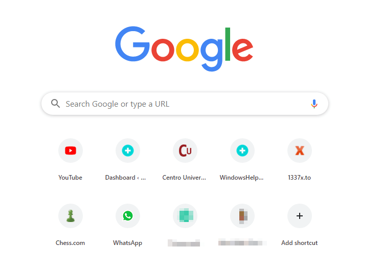 hide most visited in new tab page