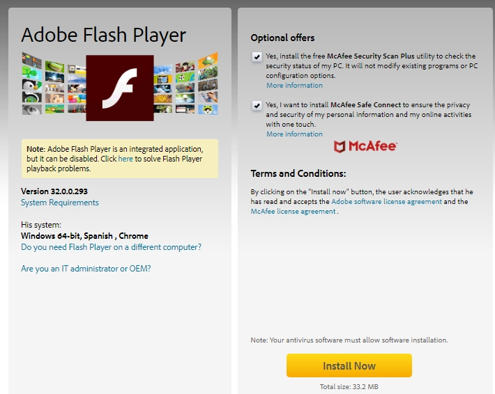 download flash player chrome