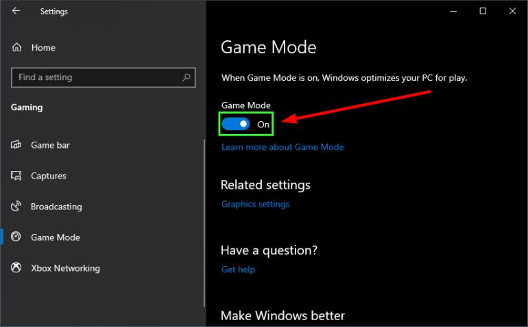 game mode disable