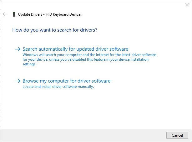 update keyboard driver