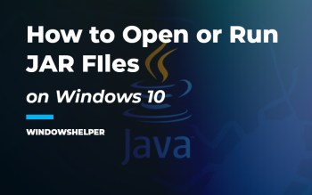 how to open jar files on windows 10