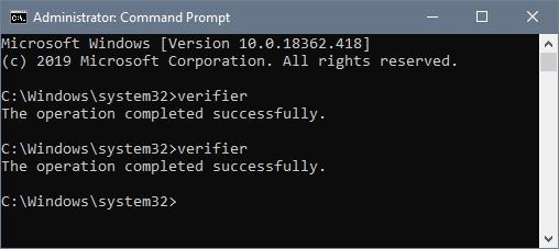 verifier command