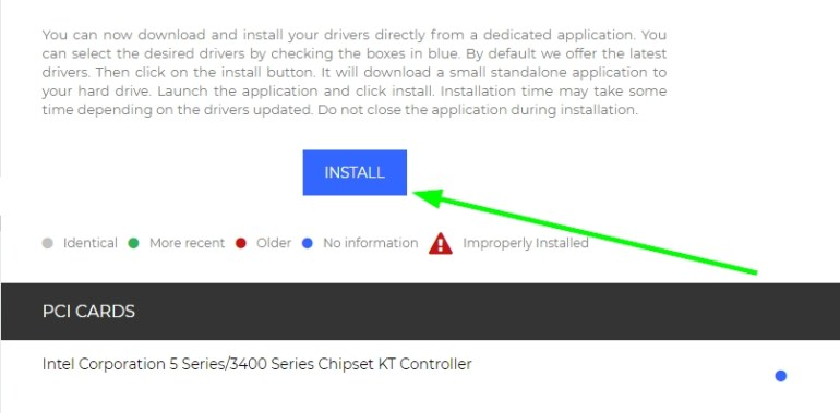 install button drivers cloud