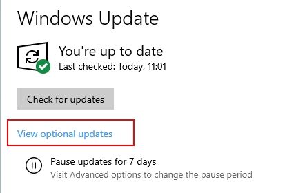 view optional updates