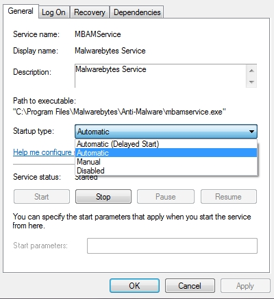 mbam service automatic
