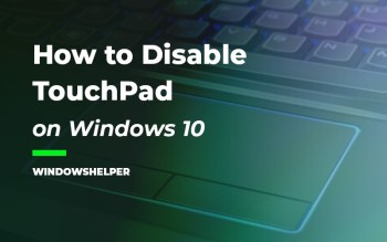 disable touchpad windows 10