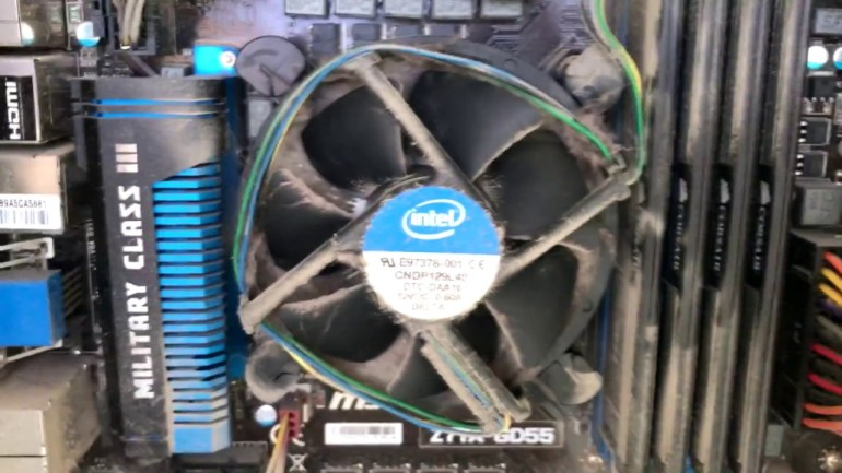 cpu fan dusty