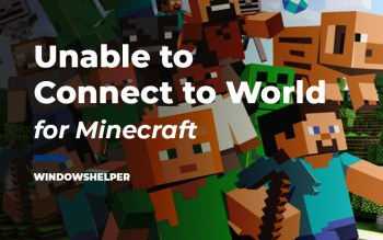 minecraft unable to connect to world
