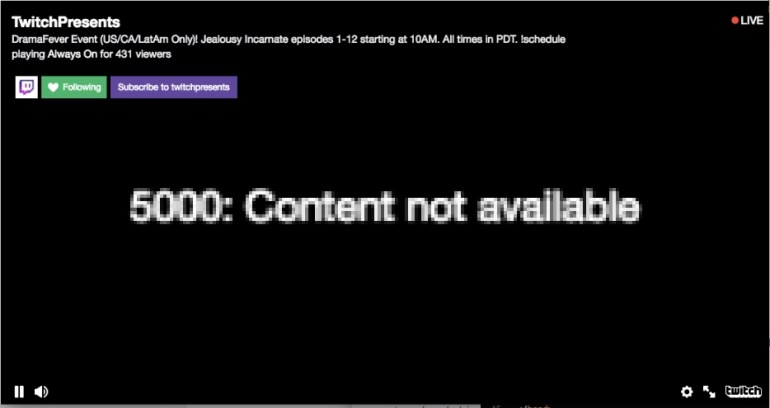 twitch 5000 content not available