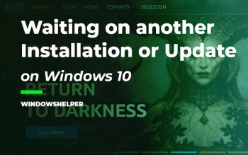 battle.net waiting on another installation or update
