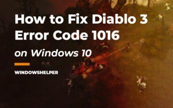diablo 3 error code 1016