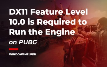 dx11 feature level 10.0 is required to run the engine pubg