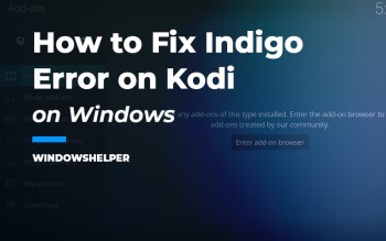 indigo error on kodi