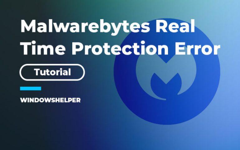 malwarebytes real time protection keeps turning off