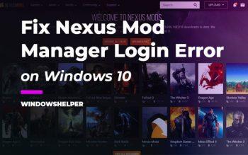 nexus mod manager login error