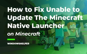 unable to update the minecraft native launcher