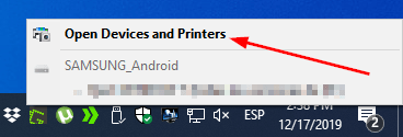 open devices and printers