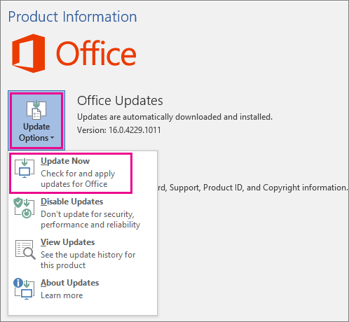 update office