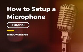 setup microphone windows 10