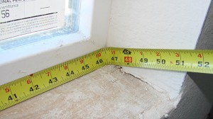 measure length along window