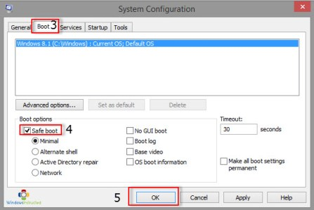 msconfig How to Boot into Safe Mode in Windows 8 safe mode
