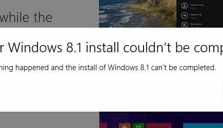 windows 8.1 install problems
