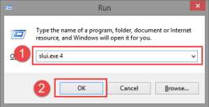 Run: Slui 4 FIX: 0xc004e003 when activating Windows FIX: 0xc004e003 when activating Windows