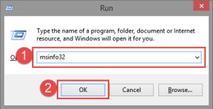 Run: MSInfo32 FIX: The application has failed to start because its side-by-side configuration is incorrect side-by-side
