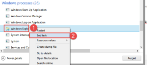 Windows 8: End Task FIX: Right-click causes Runtime Error in Explorer.exe runtime error