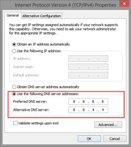 DNS Settings Windows Update Error 80246002 80246002