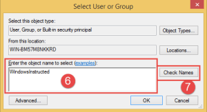 Username Failed to enumerate objects in the container. Access is denied. enumerate