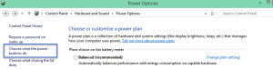 Choose what the power buttons do How to turn on Fast Startup in Windows 8.1 fast startup
