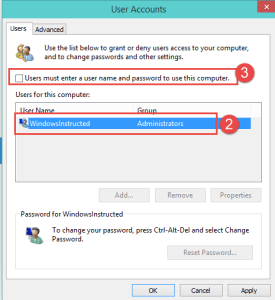 Windows 10: Changing Netplwiz settings How-to Skip Login screen in Windows 10 login