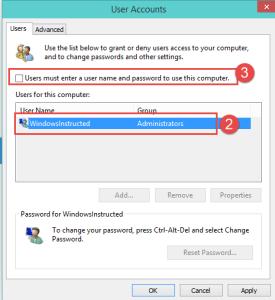 Windows 10: Changing Netplwiz settings How-to Skip Login screen in Windows 10 login
