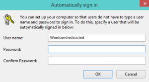 Enter Password How-to Skip Login screen in Windows 10 login